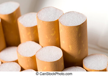 Cigarette filters - A pack of cigarettes with filters ...