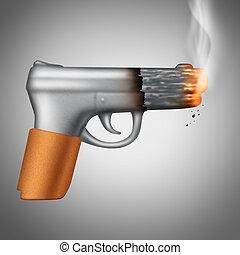 cigarette fumant, concept