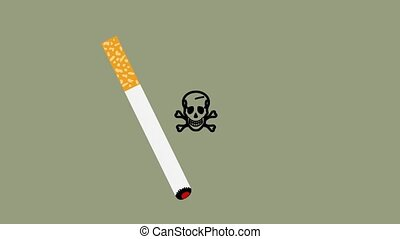 Cigarette gives deadly cancer - animation