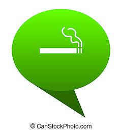 cigarette green bubble icon