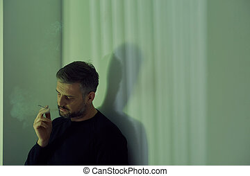cigarette, homme