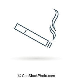 Cigarette icon on white background