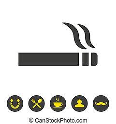 Cigarette icon on white background.