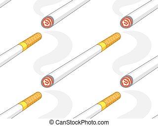 Cigarette icon pattern