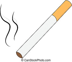 Cigarette isolated on white background. Cigarette vector illustration.