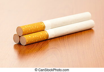 cigarette on table