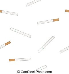 cigarette , original and light flavour, seamless sketch pattern.