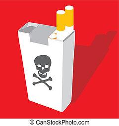 cigarette pack vector illustration