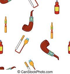Cigarette pattern, cartoon style