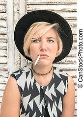 Cigarette portrait