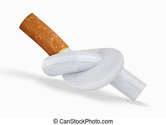 Cigarette - Quit Smoking. 3d rendered anti-smoking image
