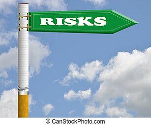 cigarette, risques, panneaux signalisations