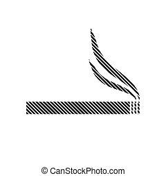 Cigarette sign on white.