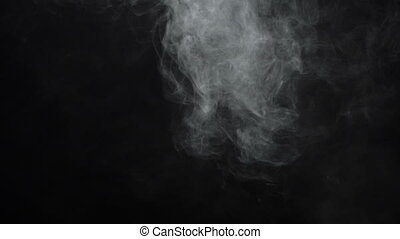 Cigarette smoky cloud - White smoky cloud of electronic...