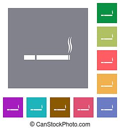 Cigarette square flat icons