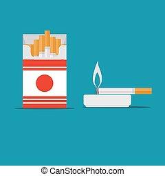 cigarette, Stock flat vector