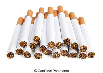cigarette - Cigarettes with the filter are isolated on a...
