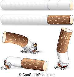 Cigarette, Stub, Cig Butts vector