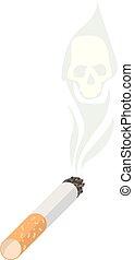 Cigarette. The illustration propagandizing refusal of...