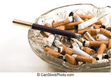 Cigarettes and ash tray