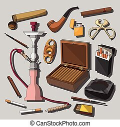 Cigarettes, Cigars and Smoking Accessories