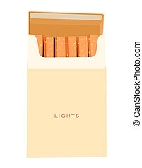cigarettes pack on white background