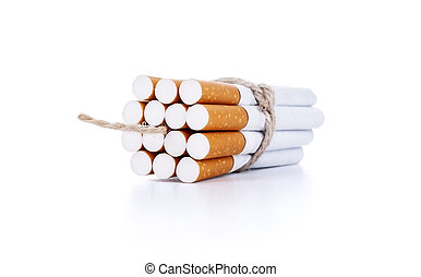 Cigarettes tied with rope