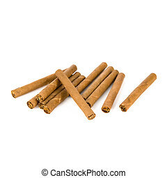 Cigarillo isolated over white background.