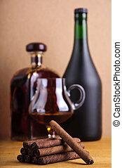 cigarillos and brandy