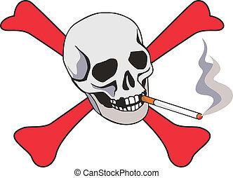 cigarrillo, cráneo