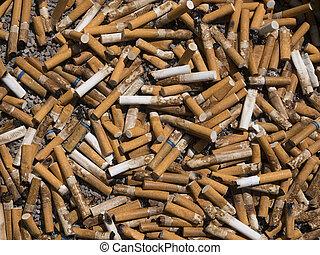 cigarrillo, plano de fondo, butt