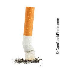 cigarrillo, solo, ceniza, butt