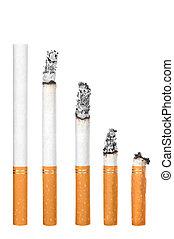 cigarrillos, blanco, aislado