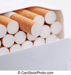 cigarrillos, primer plano