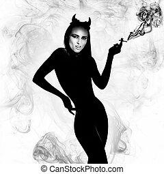 cigarro, diabo