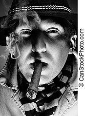 cigarro, hombre