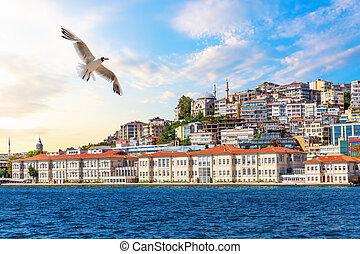 Cihangir Mosque on the coast of Istanbul, Turkey