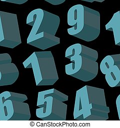 cijfers, model, seamless, achtergrond., vector, black