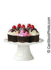 ciliegia, cupcakes