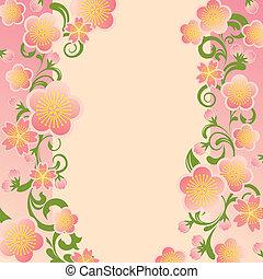 ciliegia fiorisce, cornice