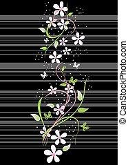 ciliegia, fioritura, orientale, scheda, ramo