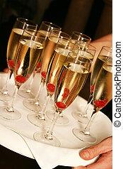 ciliegie, champagne