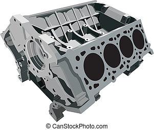 cilinder, blok