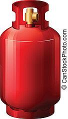 cilindro, gas, rojo
