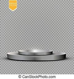 cilindro, pedestal., perspectiva, su, design., fondo., ...