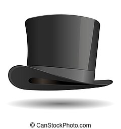 cilindro, vindima, isolado, experiência., hat., branca, roupa