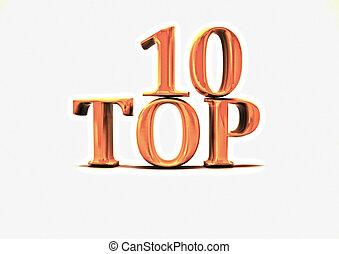 cima, 10., illustration., 3d
