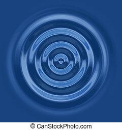 cima, abajo, ondulación del agua