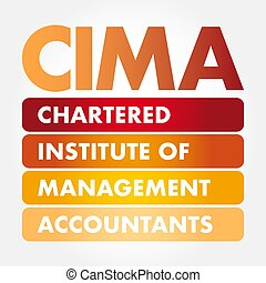 CIMA acronym, business concept background