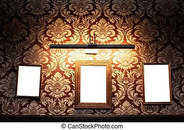 cima, anúncio, espaço, parede, -, bar, bordas, dentro, billboard, em branco, interior, whiteboards, escarneça